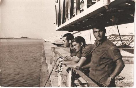 חיילים ישראליים על גשר פירדאן בתעלת סואץ - מלחמת ההתשה