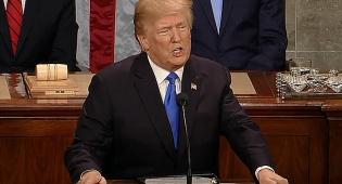 """הנשיא טראמפ בנאומו, הלילה - טראמפ: """"לתת כסף רק לידידותיה של ארה""""ב ולא לאויבינו"""""""