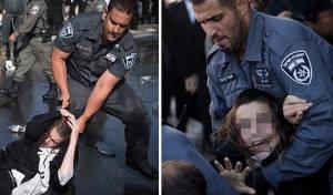 אלימות השוטרים בהפגנה - בתמונות • צפו