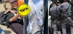 """אלף מפגינים בגוש עציון; רימוני הלם על רכבו של הגאב""""ד"""