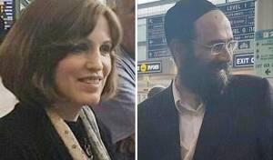 בני הזוג וילר לאחר נחיתתם - כבר לא חשודים: פנחס וחני ווילר נחתו בארץ