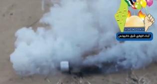 צפו באיום: בלוני תבערה עם רימוני גז מדמיע