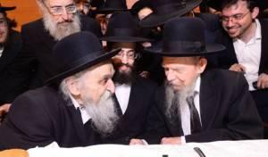 """הרב סולובייצ'יק עם יבל""""א הרב אדלשטיין"""