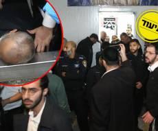 אלימות וביזוי ספרי הקודש: פינוי בית הכנסת החל - והופסק