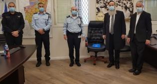 המפגש עם מפקדי המשטרה
