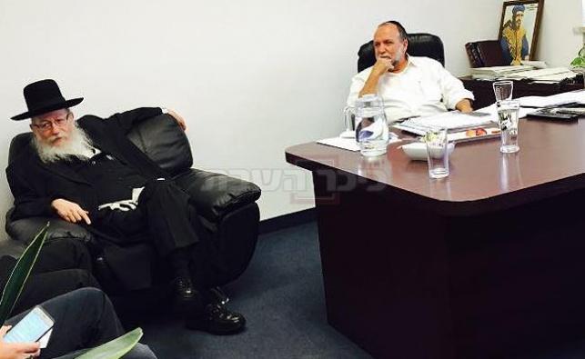 ליצמן וכהן בפגישתם בצהריים