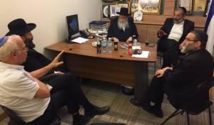 """ראשי המפלגות החרדיות עם הגר""""ש רבינבויץ, היום - השרים החרדים ייפגשו  עם הרבנים הראשיים"""