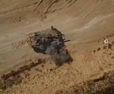 """הג'יהאד מציג: רחפן תוקף טנק של צה""""ל"""