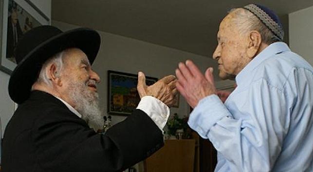 בן ארצי במפגש עם רבי יעקב גלינסקי