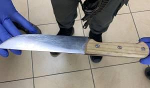 צעיר ערבי בן 17 וחצי נעצר עם סכין מטבח