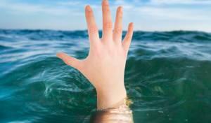 הנער קפץ אל מותו באגם הנעלם. אילוסטרציה