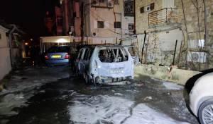 אנרכיה ברחובות: רכב הוצת בשמואל הנביא