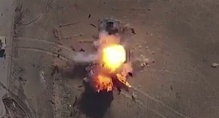דאעש מציג: כך חיסלנו משוריין מהאוויר