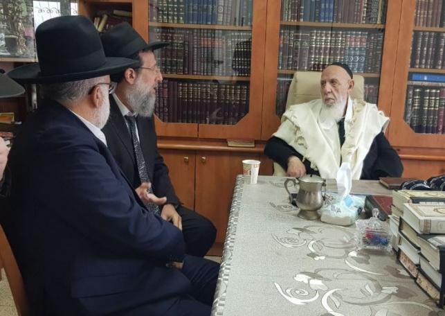 הנגיד  אייל משיח ביקר במעונו של נשיא המועצת
