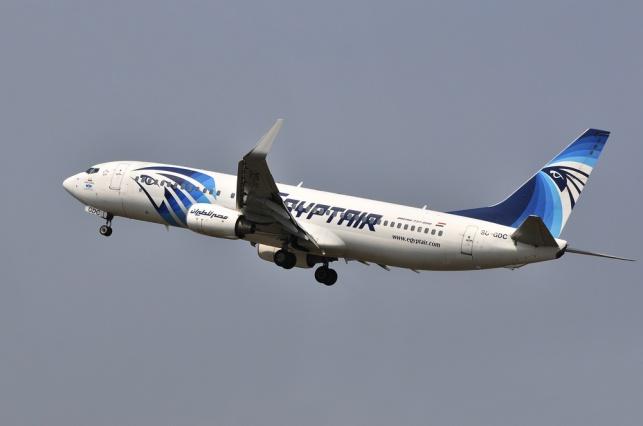 שרידי חומר נפץ במטוס המצרי שהתרסק