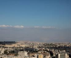 תצפית על ירושלים מגג בניין