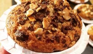 מאפינס מקמח מלא עם שוקולד ואגוזים