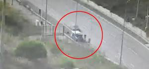 תיעוד תאונת 'פגע וברח' בכביש 1, סמוך למנהרות 'הראל'