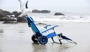בול בזמן: הכירו את כיסא החוף שיכול להפוך לעגלה