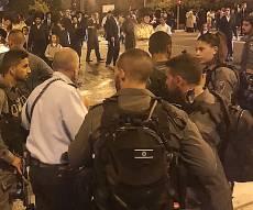 3 נעצרו בהפגנה נגד מעצר עריקה • צפו