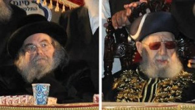 """הרב עובדיה והאדמו""""ר מבעלזא באירוע"""