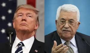 """נשיא ארה""""ב טראמפ ויו""""ר הרשות הפלסטינית אבו מאזו"""
