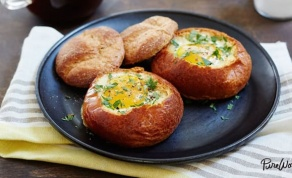 ביצה בקערת לחם אפויה - ביצה בקן ? לא, תודה - יש לנו גרסה מוצלחת יותר