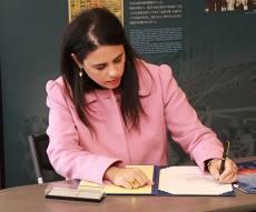 השרה איילת שקד במוזיאון - הביקור המרגש של השרה שקד בצורוגה