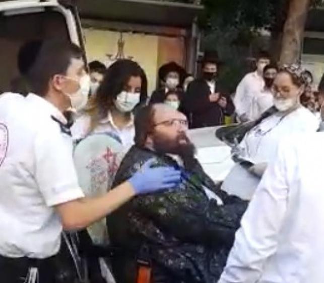 הרב בוימל בעת מעצרו ברמות