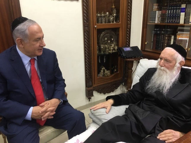 נתניהו ערך ביקור חולים אצל הרב גרוסמן