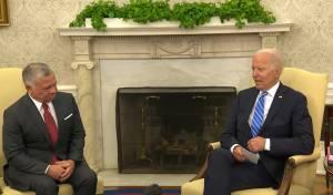 """נשיא ארה""""ב ומלך ירדן בפגישתם הלילה"""