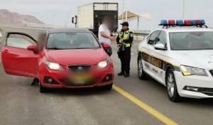 נהג חדש בפסילה ניסה להימלט מהשוטרים