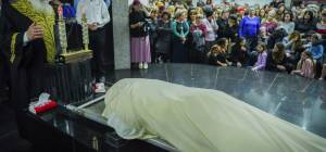 """הראשון לציון הגר""""ש עמאר בהלוויה"""