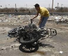 אופנוע בעזה, לאחר תקיפה ישראלית. ארכיון