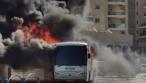בית שמש: אוטובוס נוסעים עלה באש • צפו
