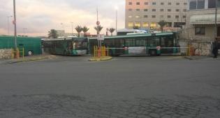 חניון אגד סגור - שביתה ב'אגד': אין אוטובוסים בירושלים