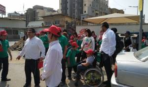 """""""הילדים המיוחדים"""" הפגינו נגד כוונות זייברט"""