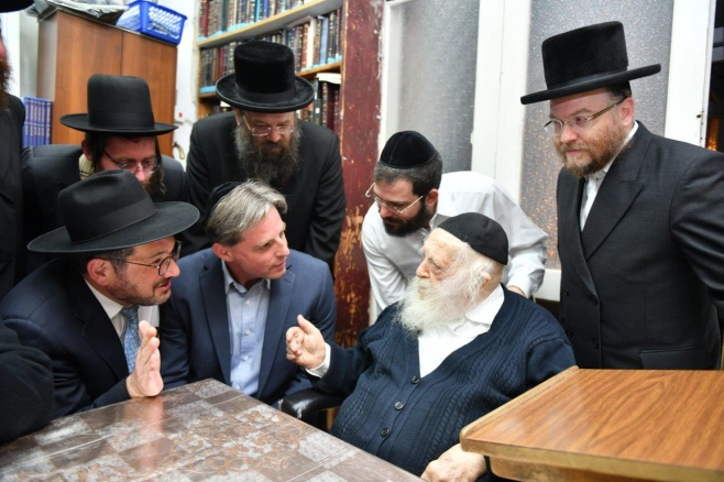 ראש מחוז ירושלים ומרכז ב'מכבי שירותי בריאות' ביקר בבתי גדולי ישראל