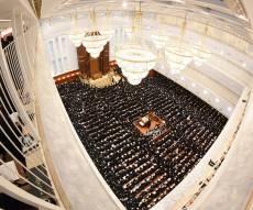 הסליחות הראשונות בחצר הקודש בעלזא