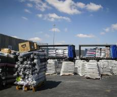 מאות רבות של משאיות בדרך לרצועת עזה