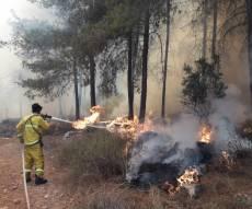 שריפת ענק במורדות הרי ירושלים • תיעוד