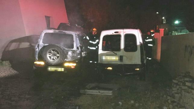 שני רכבים הוצתו ביישוב ערה ורוססו כתובות