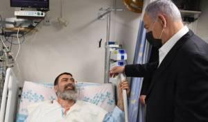 נתניהו מבקר את החולים