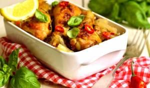 תבשיל עוף וירקות מאודים
