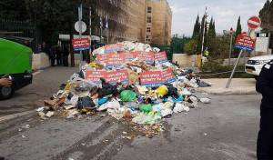 עובדי העירייה השליכו אשפה במשרד האוצר