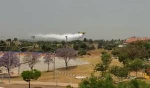 מטוסי הכיבוי מעל אלעד