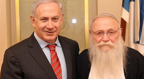 """הרב דרוקמן בפגישה עם ראש-הממשלה (צילום: לע""""מ)"""