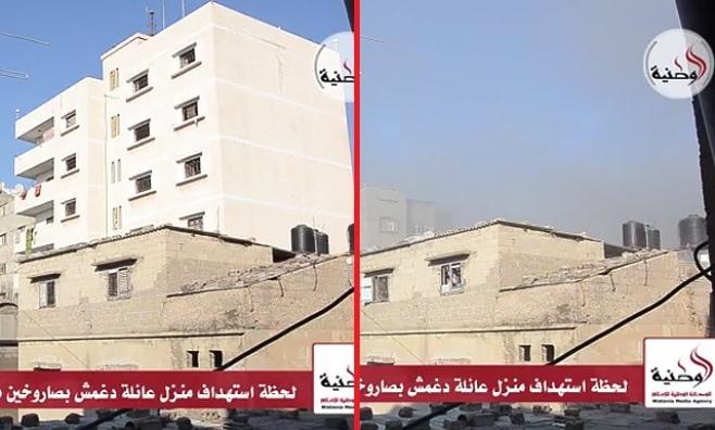 צפו בוידאו: טיל מעלים בניין בעזה