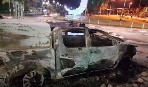 רכב המשטרה השרוף