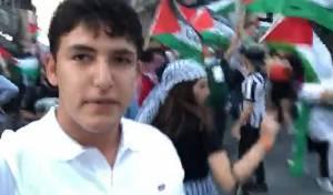 כך החרדי ניצל מהפגנת זעם פרו-פלסטינית